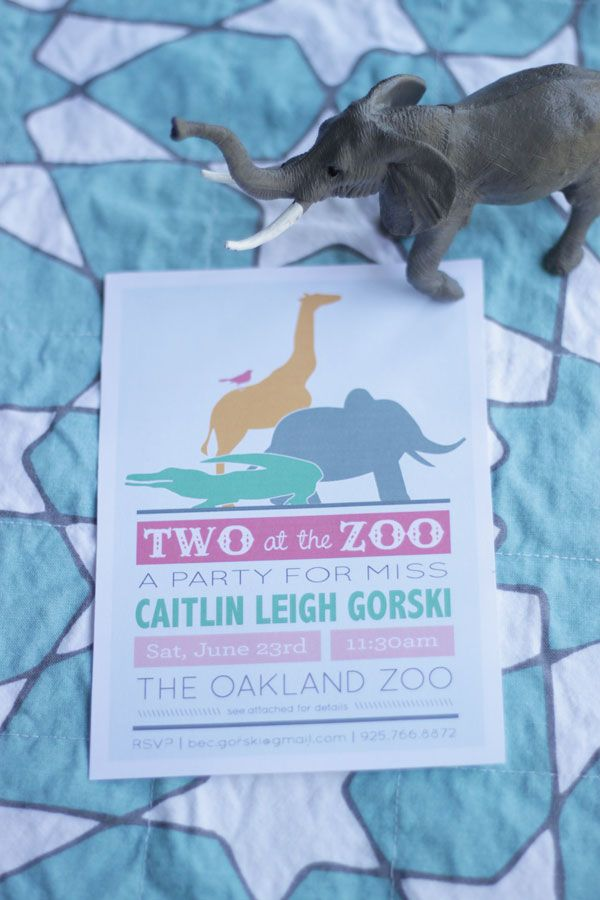 Two at the Zoo | Second Birthday Celebration