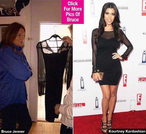Bruce Jenner's Favorite Dress Identical To One Kourtney Kardashian Owns Bruce Jenner #BruceJenner