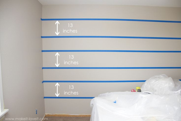 How to paint super straight horizontal lines make it for Painting stripes on walls in kids room