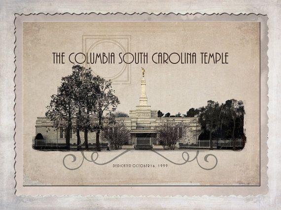 Columbia South Carolina Temple Shabby Chic by AltusPhotoDesign, $15.00