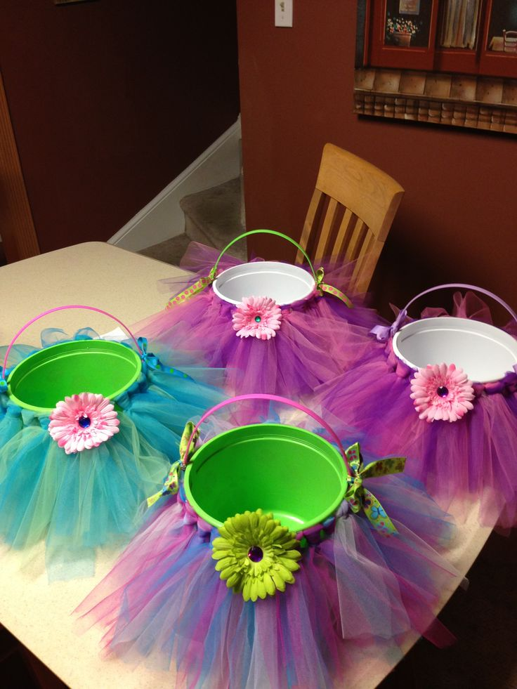 12 best tutu easter basket images on pinterest easter baskets easter baskets for little girls make little tulle tutus to place around pails so cute even use this idea for favors at birthday party by lorrie negle Image collections