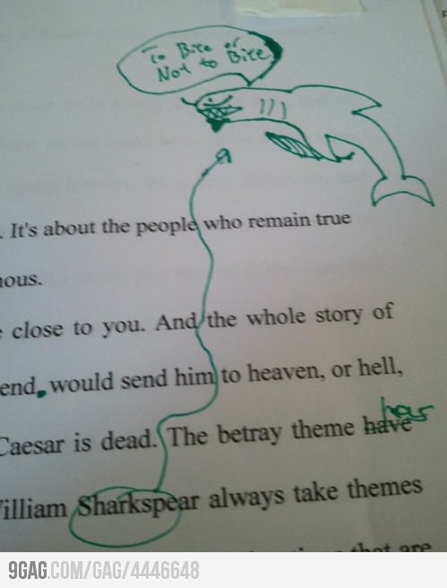 Sharkspeare....i dont know why this made me laugh so hard but it did lol