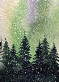 Image result for watercolour northern lights