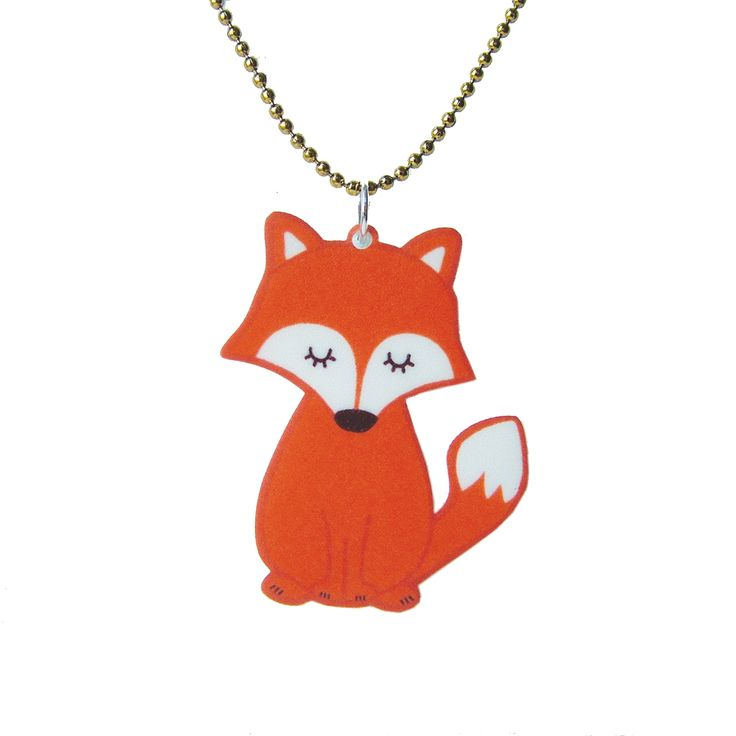 Fox Cute Acyrlic Necklace - Kawaii Jewelry