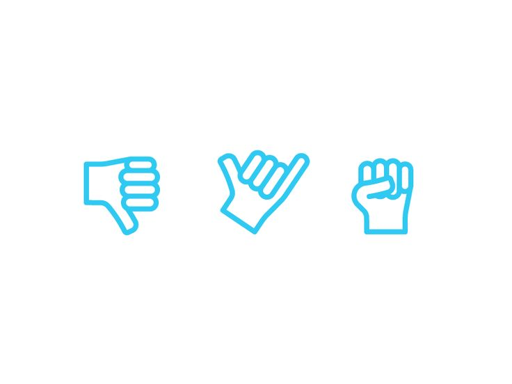 Hand Gesture Icons pt. 2 by Kyle Adams
