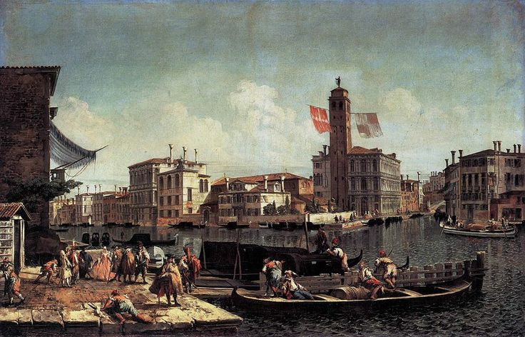 The Grand Canal with the Palazzo Labia and Entry to the Cannareggio. Gemäldegalerie, Berlin.