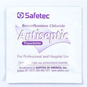 Safetec Benzalkonium Chloride Antiseptic Towelette - for all your ...