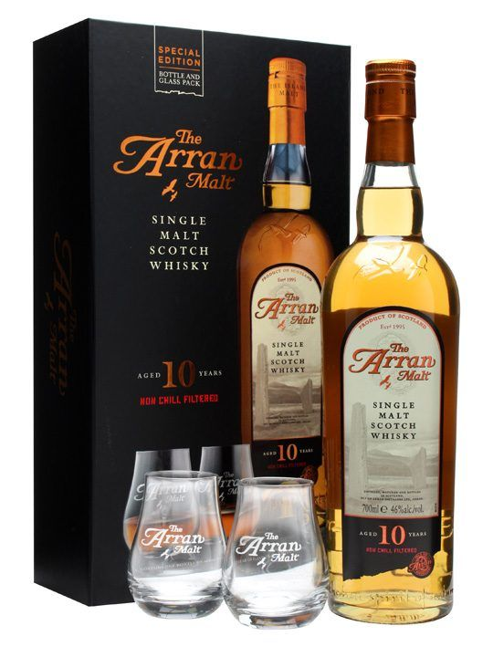 A great looking glass pack from the Isle of Arran distillery, matching up their flagship 10 year old whisky with a pair of nosing tumblers. Great as a gift for any whisky lover, including yourself.