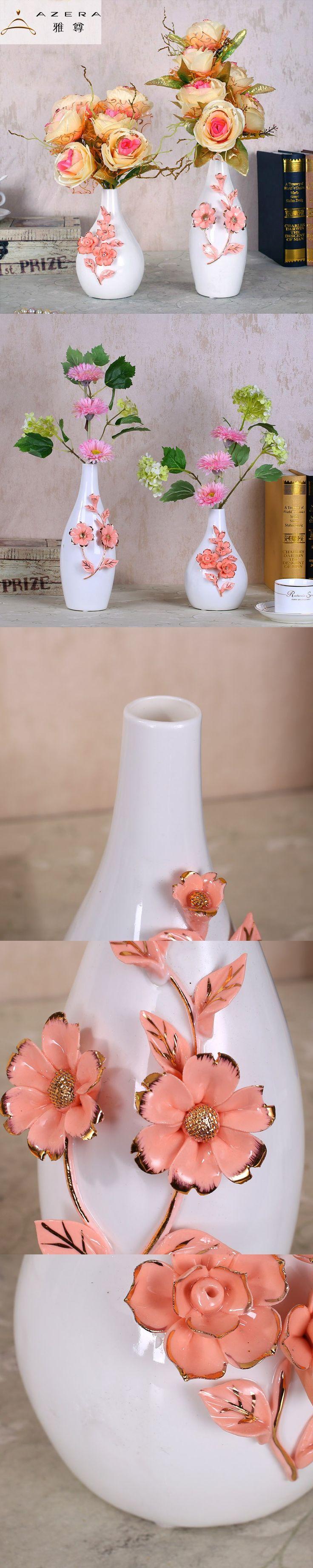 Modern minimalist Decor white ceramic vase Home Furnishing living room table small TV cabinet decoration wedding gift $124.19