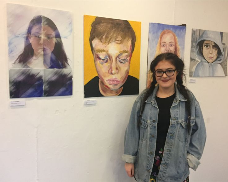 Representing Cwmtawe at the district's outstanding art exhibition.
