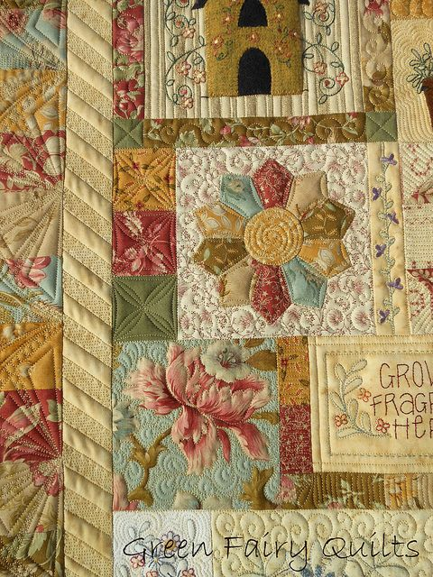 Amazing quilting - the link will take you to the post with lots of beautiful pictures - very inspiring!