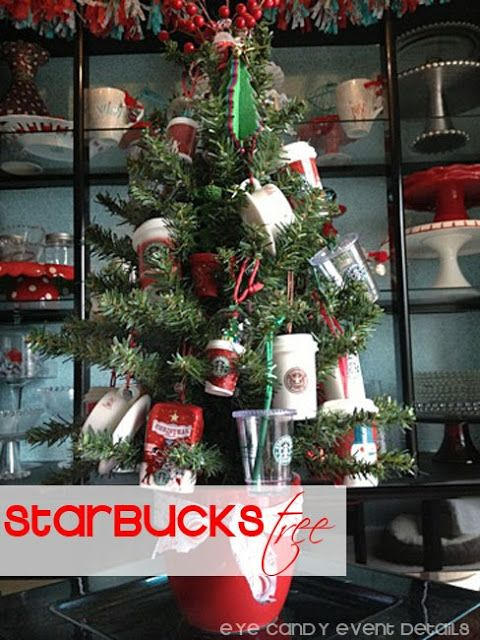 LETS EACH HAVE A STARBUCKS ONLY CHRISTMAS TREE THIS YEAR! HOW CUTE WOULD IT BE?!?!??!?!! {HOME} Starbucks Christmas Tree   Decor