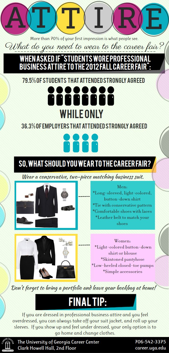 Dress for Success! What to wear to a Career Fair