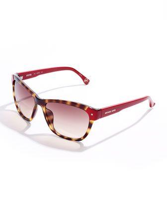 Color vision. Michael Kors Zoe Color-Detail Sunglasses.#sunglasses #cool