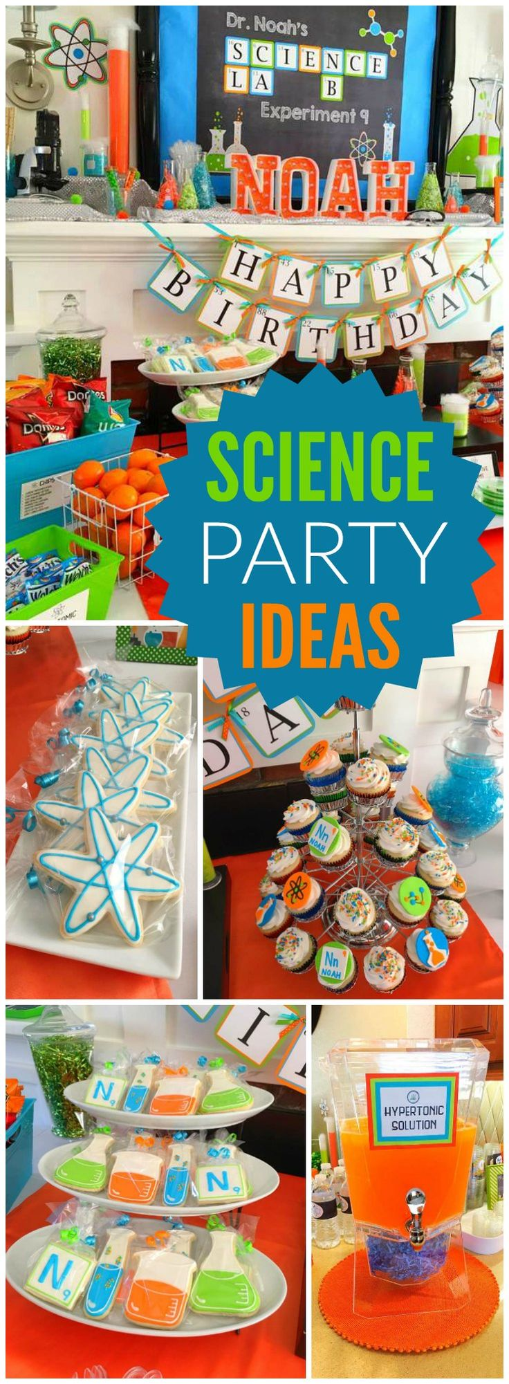 You won't believe this science lab boy birthday party! See more party ideas at CatchMyParty.com!