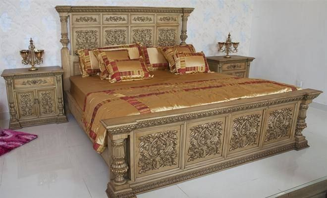 Double Bed Designs In Wood In Pakistan Classic Wood Bed Set Double Bed Designs In Wood Bedroom Furniture Design Bed Furniture Design Bedroom Set Designs