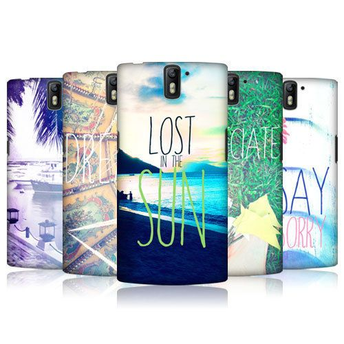 HEAD CASE DESIGNS POSITIVE VIBES SERIES 1 HARD BACK CASE FOR ONEPLUS ONE #HeadCaseDesigns