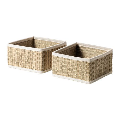 IKEA - SÅLNAN, Basket, 6 ¼x6 ¼x3 ¼ (for hats and gloves under shoe bench) (also for items in laundry area?)