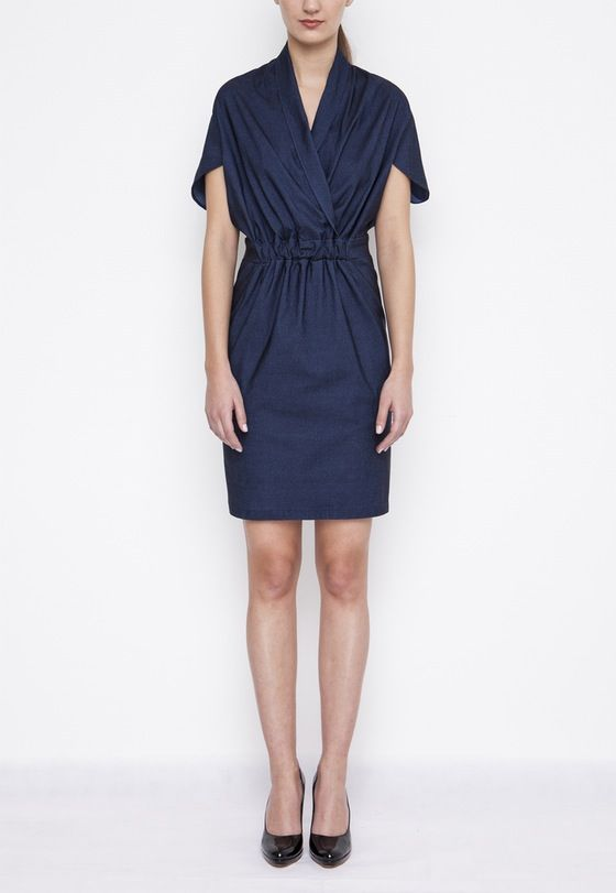 Image of Denim Wrap Dress