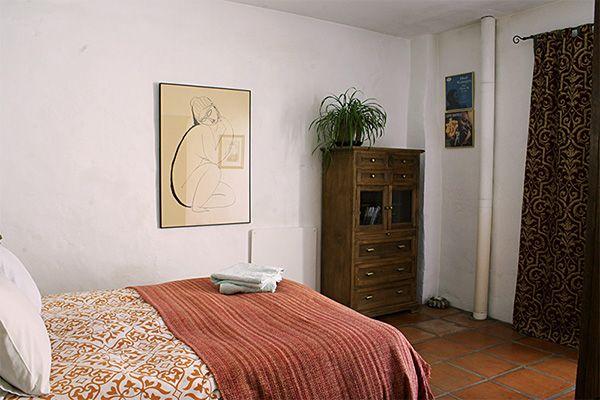 Casa verde rear bedroom in Alhama de Granada, Andalucia