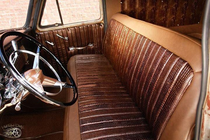 Two Tone And Two Material Leather Bench Seat Vehicles