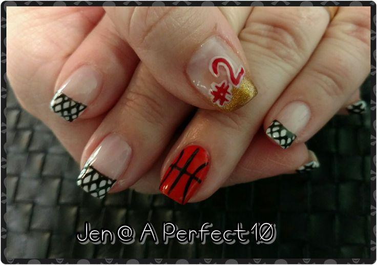 Basketball nail art