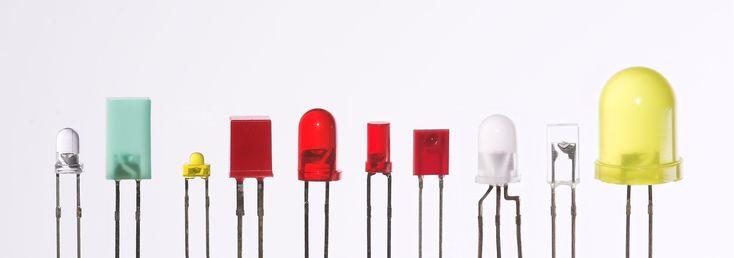 Verschiedene LEDs - Leuchtdiode – Wikipedia