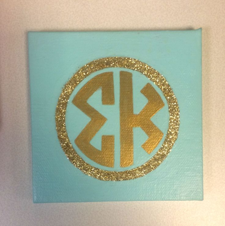 Sigma Kappa mini monogram canvas