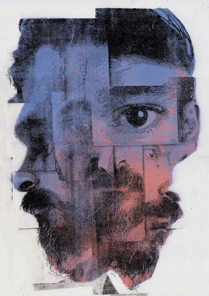 INTROSPECTION No.02 Mixedmedia (offset + stencil) on A3
