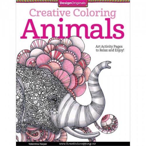 DESIGN ORIGINALS - CREATIVE COLORING 5506 - ANIMALSKreativ fargeleggingsbok med 30 avslappende motiver å farge. - En kunst aktivitet som får deg til å både slappe av og til å inspirert.Kan fargelegges med markers (tusj), gel-penn, fargeblyant/stifter eller med vannfarger. Sidene er printet på kvalitetspapir på ekstra tykt papir.  Design Originals-Creative Coloring: Animals. Inject a little whimsy into your daily grind! These illustrations will transport you to a dream world of deligh...