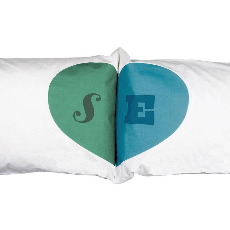 Heart Union Pillowcases from notonthehighstreet.com