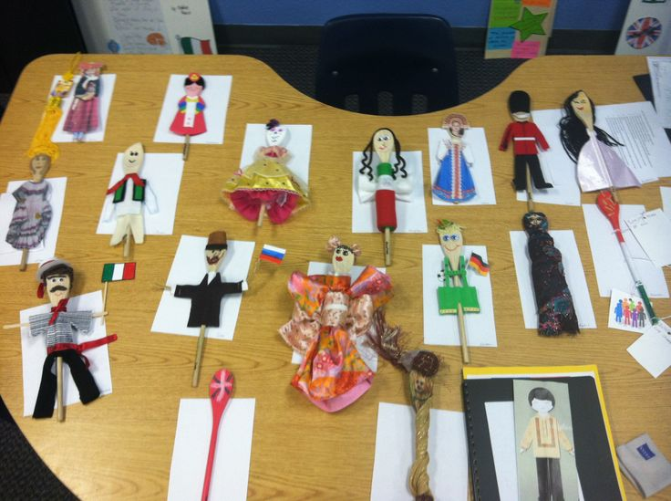 For our immigration unit, I gave my students wooden spoons and they decorated them based on their own ancestry.
