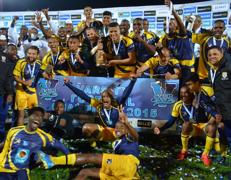 #VSFootball 2015 champions have been crowned - congratulations to UWC men who beat TUT 2-1 in Cape Town last night!