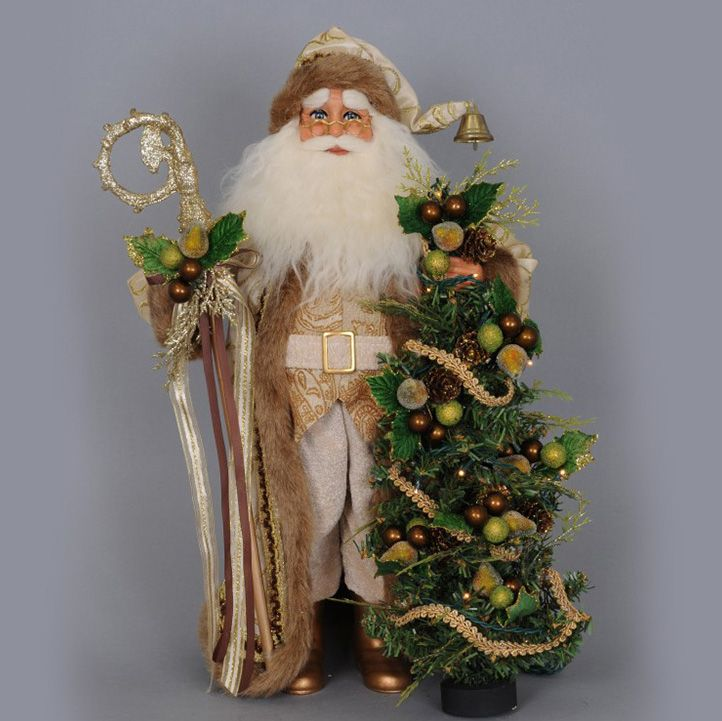 Christmas Lights Shop Adelaide: Lighted Ivory And Gold Santa