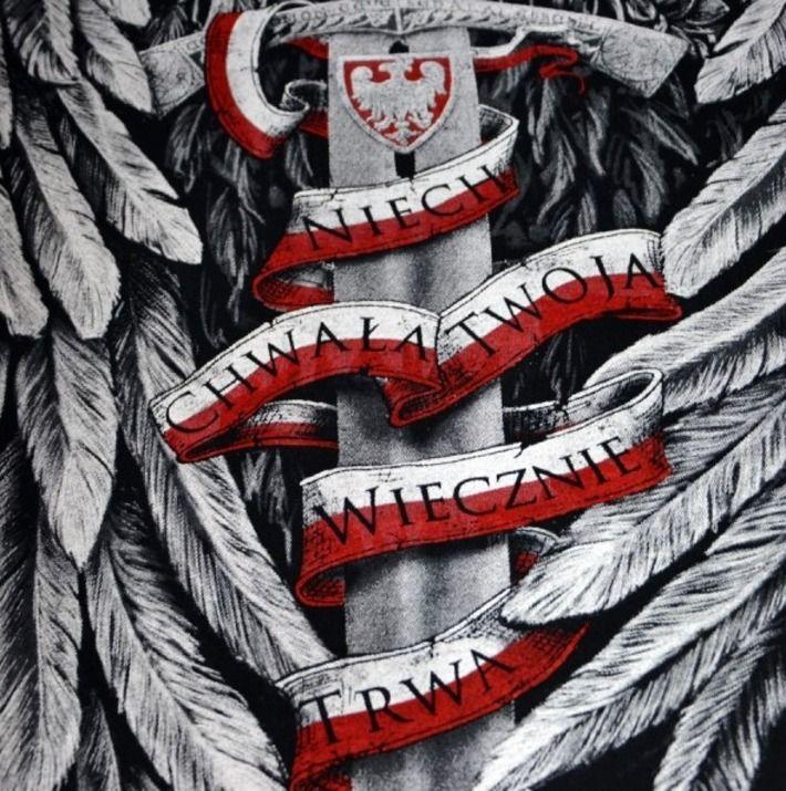 Motyw patriotyczny na koszulce 'Niepodległa Polska' HD ---> Streetwear shop: odzież uliczna, kibicowska i patriotyczna / Przepnij Pina!