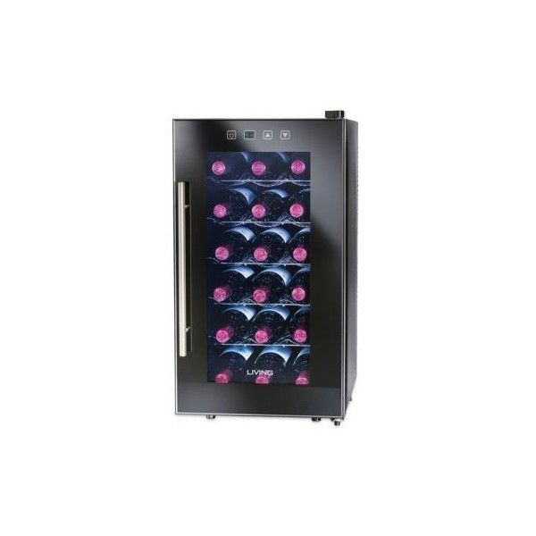 Nostalgia Electrics Black 18-Bottle Wine Chiller Ewc018blk (1 305 SEK) ❤ liked on Polyvore featuring home, kitchen & dining, bar tools, kitchen related, black, modern ice bucket, nostalgia electrics and black ice bucket