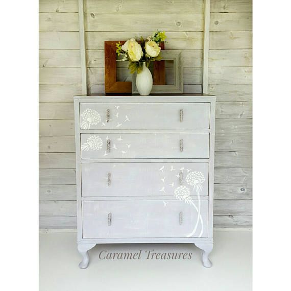SOLD SOLD Upcycled Grey Chest Of Drawers, Painted Cabinet, Nursery Room  Dresser, Solid Wood Chest Of Drawers, Grey Bedroom Furniture