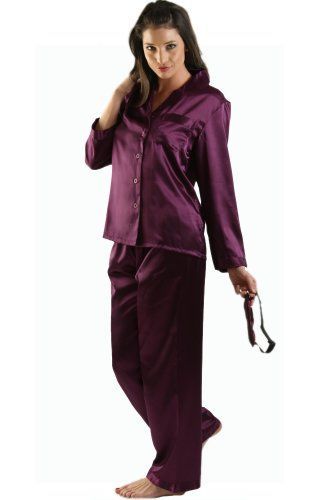 Women's Purple Satin PJ Set