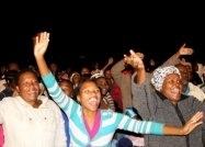 """""""I felt like something was being lifted off me and the Holy Spirit entered my heart. Then, out of the blue I experienced an emotion that I had never felt before. I was so happy, I felt extreme happiness. I felt joy!"""" ~ Julia Mkhwanazi, a 19-year-old girl, who received Jesus as her Lord."""