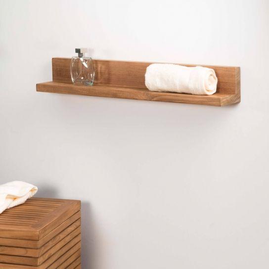 17 meilleures id es propos de salle de bain teck sur pinterest meubles te - Tablette teck massif ...