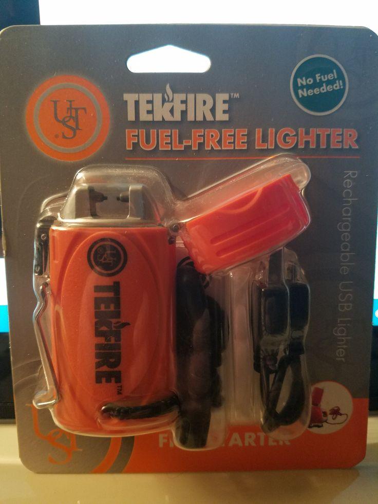 TekFire Fuel-Free Lighter Survival Fire Starter Rechargeable USB Lighter Item 20-00041