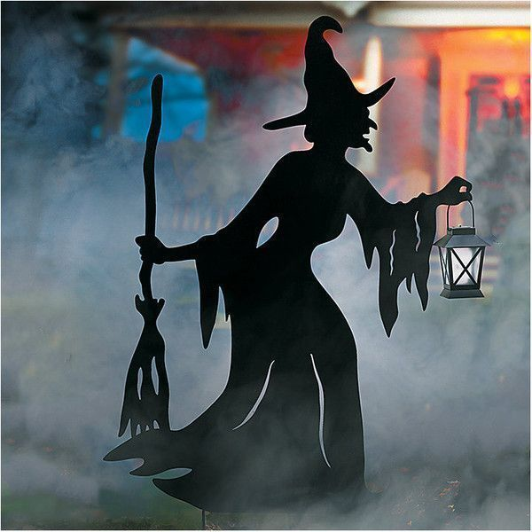 Improvements Halloween Witch Silhouette with Solar Lantern ($90) ❤ liked on Polyvore featuring home, home decor, holiday decorations, halloween decor, halloween witch, halloween yard decoration, witch, witch silhouette, yard art and black outdoor lantern #homeimprovementHalloween, #outdoorhalloweendecorations #halloweenhomedecor