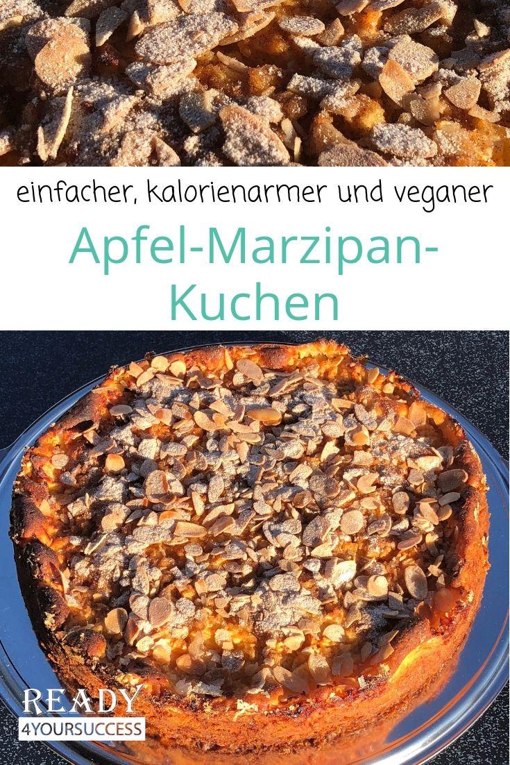 Einfacher Apfel Marzipan Kuchen Rezept Gesunde Ernahrung