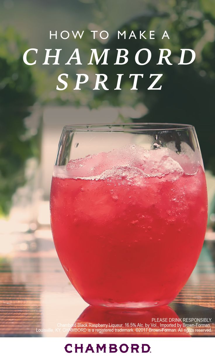 Now this is a cocktail worth sipping on all summer long. Grab your girlfriends and combine Chambord® raspberry liqueur, dry white wine, and soda water to make this Chambord® Spritz recipe! Brunch, pool-side party, you name it, this drink is sure to be a hit.