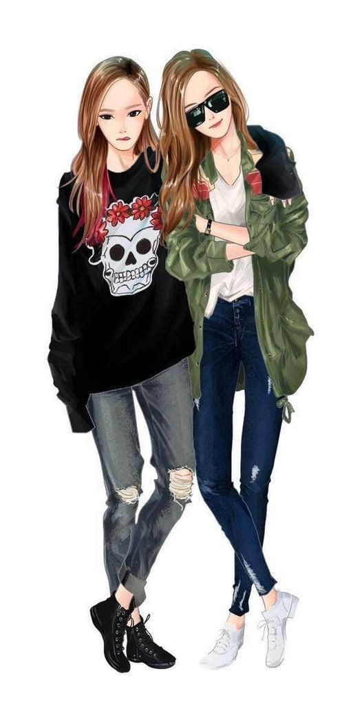 Fanart   SNSD Taeyeon Jessica (TaengSic)   Fanart ... F(x) Krystal And Jessica