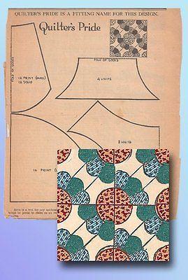 1930s Original Kansas City Star Newspaper Quilter's Pride Quilt Block Pattern | eBay Interesting and kinda cool
