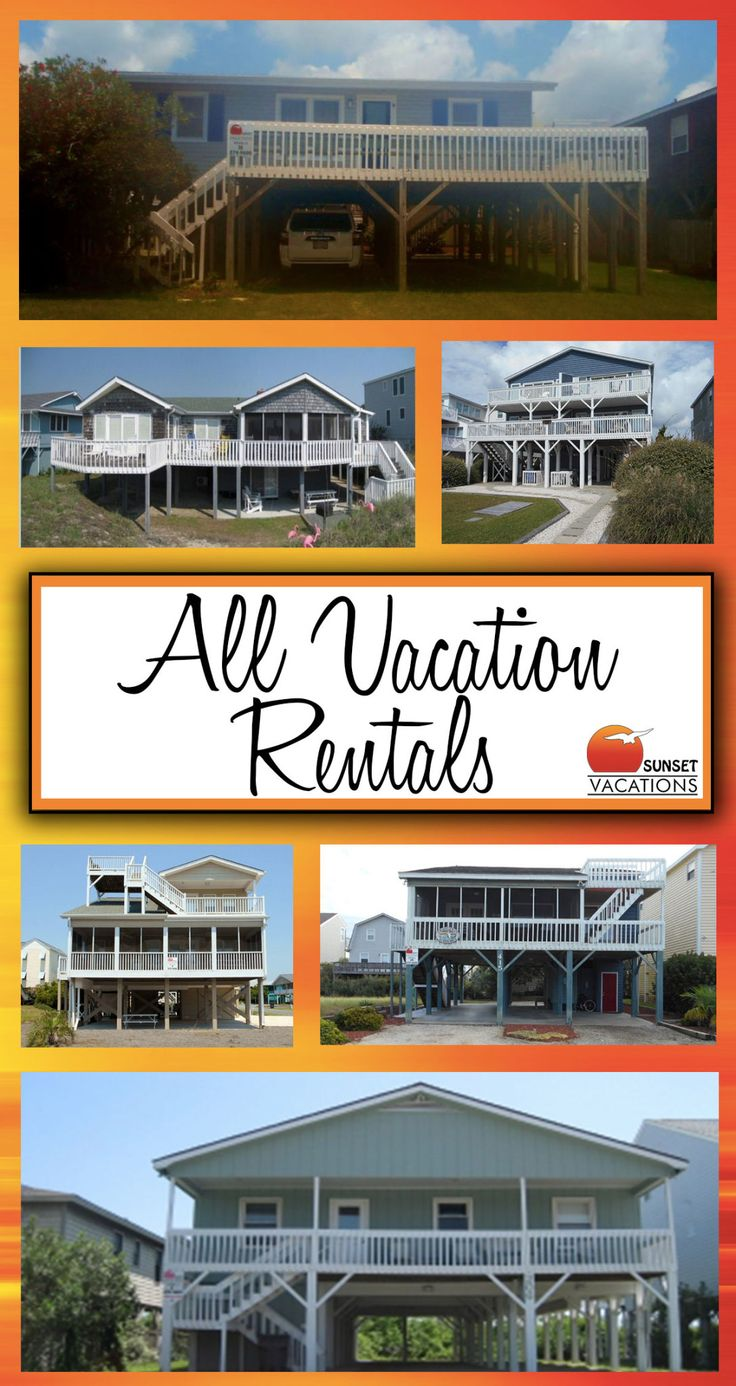 isn't it time for you to book your next Sunset Beach vacation?! Check out all of your amazing choices.