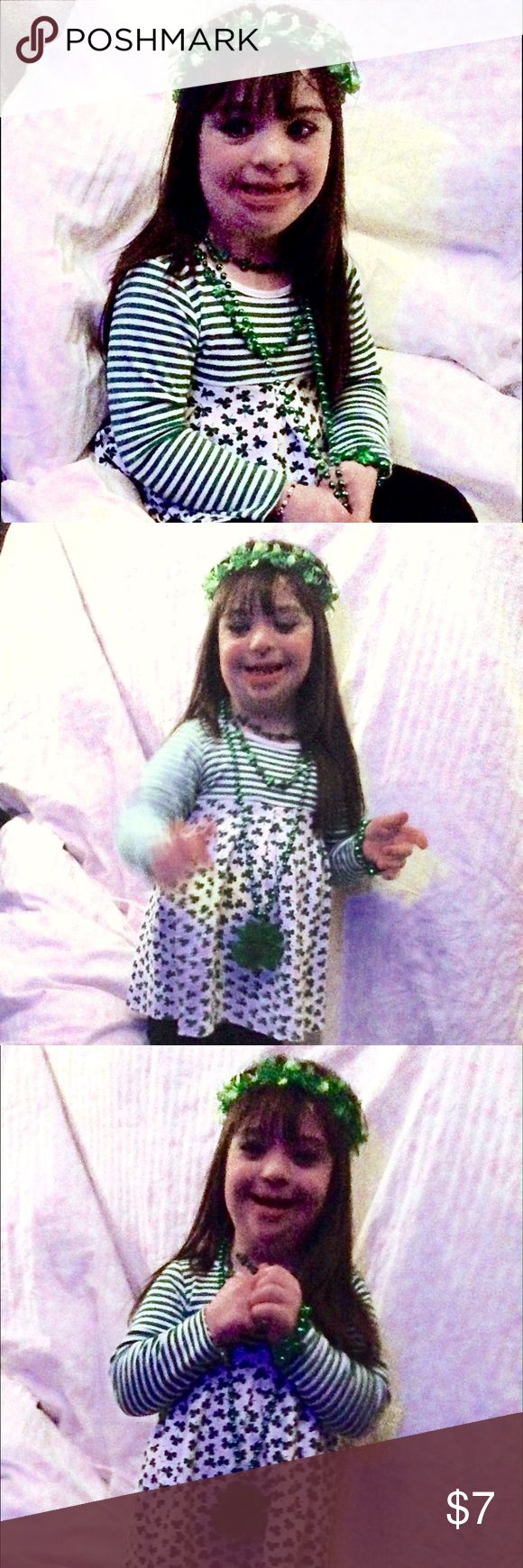 """👧🏻‼️🍀Sale🍀‼️ for World Down Syndrome Day🎗 March 21 is World 🌎 Down Syndrome day! People with Down syndrome have 47 chromosomes instead of 46 like most people. To celebrate people like me (I'm Sarah-in the photo) who have Down syndrome (""""Up"""" syndrome to me), $ from items in our closet marked with a🎗will be donated to DSAW (Down Syndrome Association of WI).  Also, items marked with 🍀 will be $7 per lucky shamrock. So, if you see 🍀🍀, then your price is $14, 🍀🍀🍀 is $21, etc. AND…"""