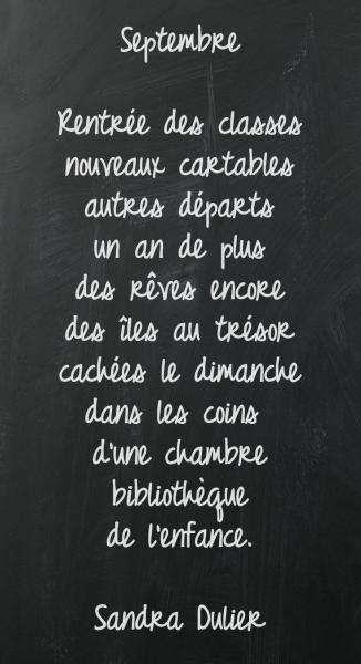 Tableau #septembre - Découvrir 10 #citations #rentrée sur http://www.sandradulier.com/blog/10-citations-pour-la-rentree.html