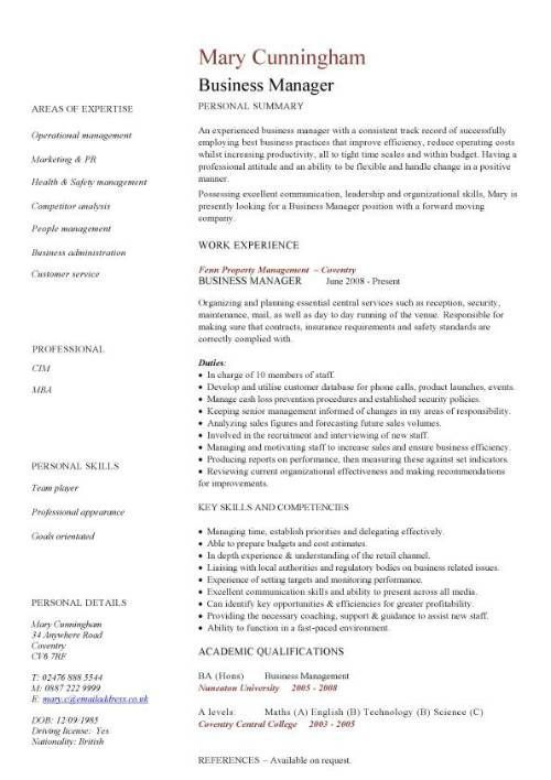 Resume Examples Business Management #business #examples #management - free resumes examples